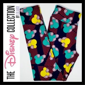 LuLaRoe Disney Mickey Mouse OS Leggings One Size